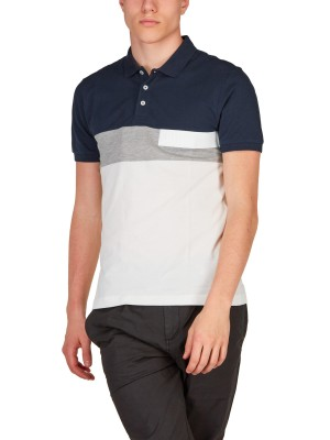 Polo Uomo Color Block
