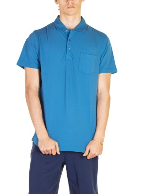 Polo Uomo Cold Dye Shirt Collar Con Taschino