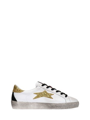 Low Scarpe Sneakers Donna In Pelle Made in Italy Fatte a Mano