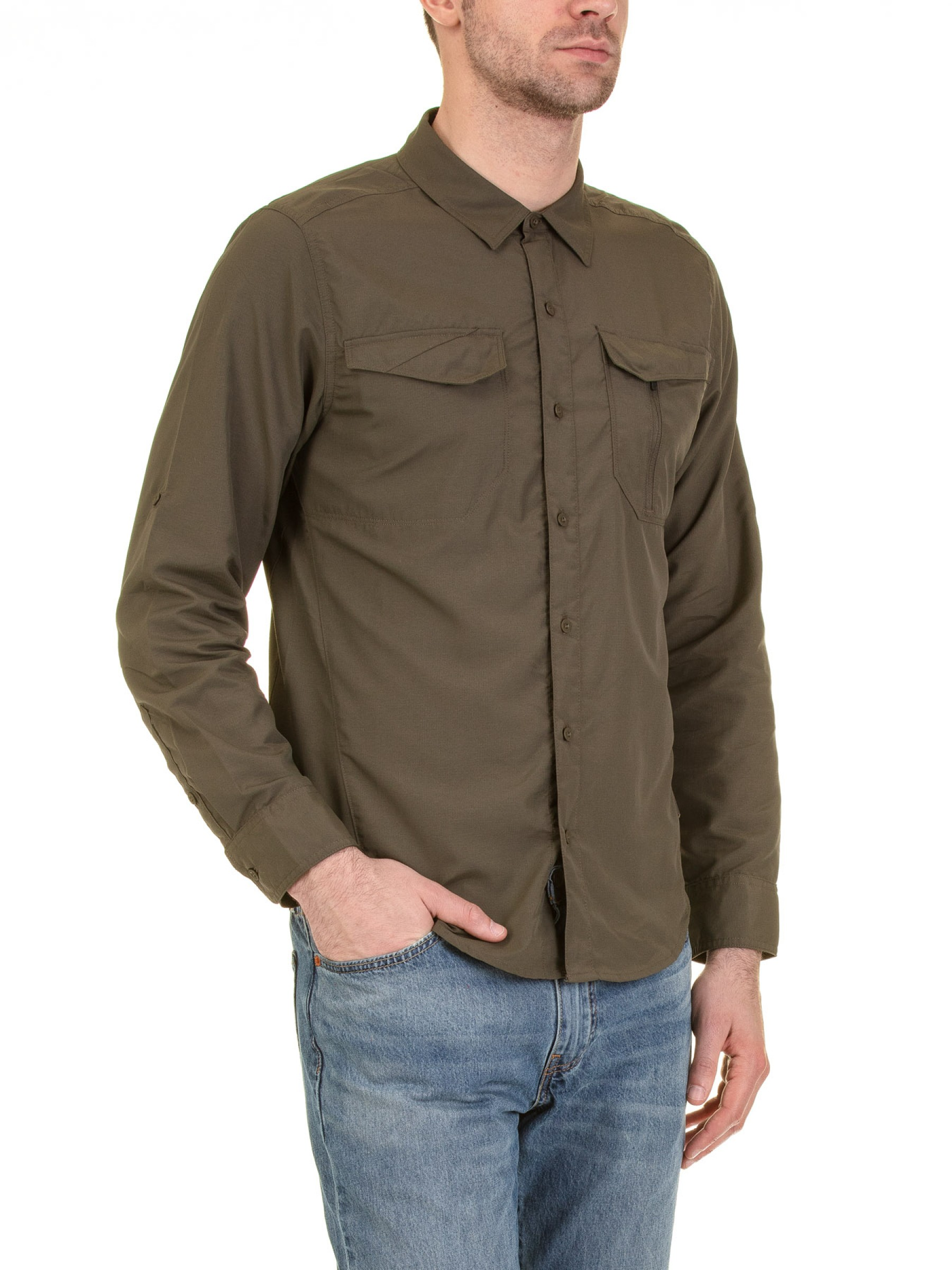newest collection 8fb74 a92d9 Camicia Outdoor Manica Lunga Uomo Sequoia