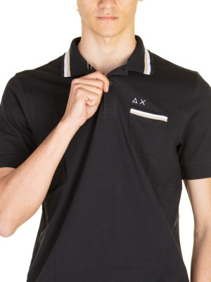 Polo Uomo 3 Stripe On Collar