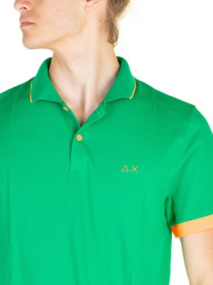 Polo Uomo Small Stripe Fluo