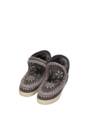 Stivaletto Montone Donna Eskimo Sneakers Stars Patch